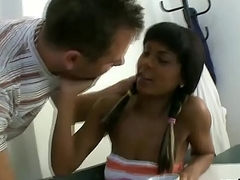 Lover assists far hymen physical and drilling of virgin cutie