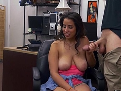Amateur Latina concerning Natural Big Tits Visits Pawn Shop for Cash Money xp15670 HD