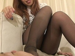 Japanese Femdom Airi footworship and boots fetish