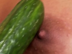 Euro lesbian asstoyed with beamy cucumber