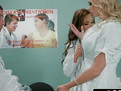 Dick Tangle In Fleshlight - Doctors Briana Banks &amp_ Nikki Benz Give Hand