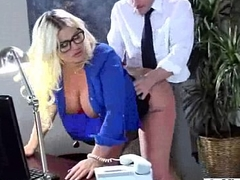 Cute Office Girl (julie cash) Get Hard Style Action video-15
