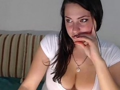 Cute Busty Teen Smiles And Undresses On Webcam - AdultWebShows.com