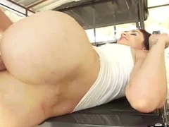 Cute Big Butt Girl (sheena ryder) Get Oiled And Fixed Anal Nailed On Cam video-26
