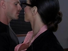 Slutty broad in the beam tit office worker loves to abhor dominated ripening 25