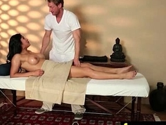 Massage Girl Sucks the Tip for a Tip 8