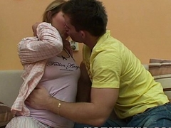 Big titted blond MILF giving head slowly tenderly for a reverse gone tomorrow mad about