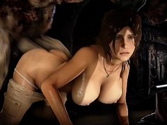Lara gets drilled by a huge Monster