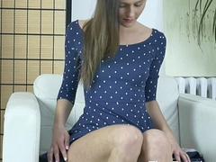 Slim Coed Masturbates to Climax with a Wand