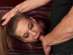 Molly Manson Gives Blowjob and Banged Savagely
