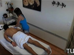 Venerated turns massage into fucking