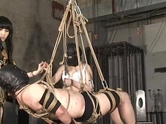Japanese Female dom Kyouka Hanging Slave