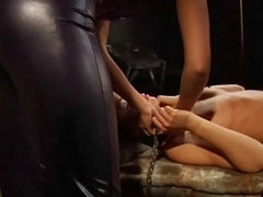 Young Lesbian Girl Gets the brush Hot Body Whipped By Mistress