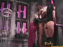 Three smoking hot playgirls have some kinky amusement in the oubliette
