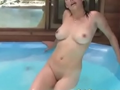 Busty Canadian Arizona Fucks Herself Silly Nearly A Hottub