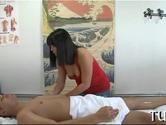 Sex receives united with massage