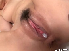 Wet rug munch for hairy asian pussy
