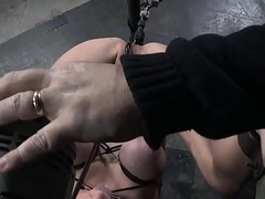Bdsm sub anal penetrated with sex tackle
