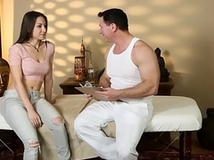 Massaged latina spunked