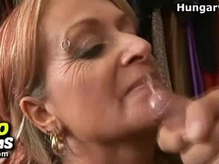 Skinny lady Karen Kougar blowjob and rough fucking