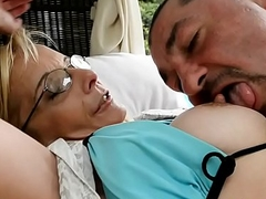 Mature doggystyle assfucked by the pool