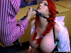 Little Uppity School Whore Harmony Reigns Gets Proper Big Cock Punishment