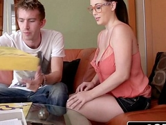 Big Natural Boobs Noelle Easton Has Private Party with Her Room-Mate