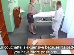 Amateur hospital inspector pussyfucked by dr