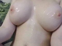 Skinny amateur with huge tits fucked
